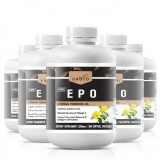 [유비바이오] 달맞이꽃종자유 EPO 1000mg 300cap 6개