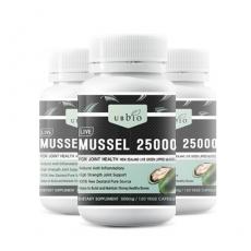 [유비바이오] 뉴질랜드 초록입홍합 25000mg(고함량) 120캡슐 3개