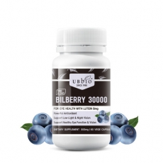 [유비바이오] 빌베리 30000mg + 루테인 8mg 60베지캡슐 1개