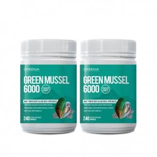 [그리니아] 그린머슬6000  / 100% 뉴질랜드 초록입홍합 240 캡슐 2개