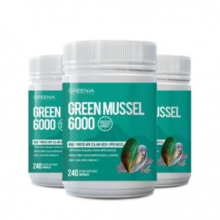 [그리니아] 그린머슬6000  / 100% 뉴질랜드 초록입홍합 240 캡슐 3개