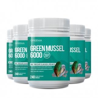 [그리니아] 그린머슬6000  / 100% 뉴질랜드 초록입홍합 240 캡슐 6개