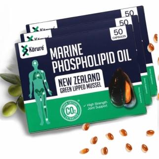 [코루레] 뉴질랜드 초록홍합오일 50정 3개(관절에좋은음식)