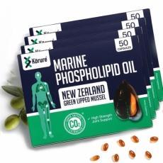 [코루레] 뉴질랜드 초록홍합오일 50정 4개(관절에좋은음식)
