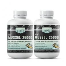 [유비바이오] 생 초록입홍합25000mg 360캡슐(고함량) 2개 무릎관절에좋은영양제