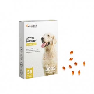 [펫아일랜드] ACTIVE MOBILITY 강아지 면역&관절영양제 50정 1개