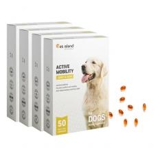 [펫아일랜드] ACTIVE MOBILITY 강아지 면역&관절영양제 50정 4개