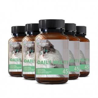 [펫 아일랜드] 데일리 멀티 비타민 (휴먼 그레이드/고양이 영양제) 45캡슐 6개