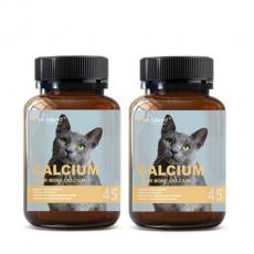 [펫 아일랜드] 캣 칼슘 (휴먼 그레이드/고양이 영양제) DEER BONE 45캡슐 2개