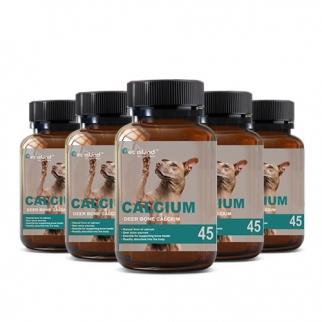 [펫 아일랜드] 독 칼슘 (휴먼 그레이드/강아지 영양제) DEER BONE 45캡슐 6개