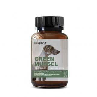 [펫 아일랜드] 초록잎홍합 그린머슬(휴먼그레이드/강아지홍합) 관절건강 30캡슐 1개