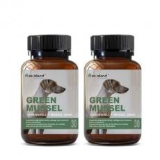 [펫 아일랜드] 초록잎홍합 그린머슬(휴먼그레이드/강아지홍합) 관절건강 30캡슐 2개