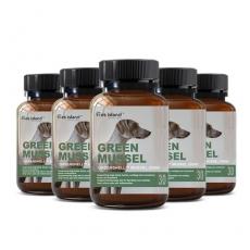 [펫 아일랜드] 초록잎홍합 그린머슬(휴먼그레이드/강아지홍합) 관절건강 30캡슐 6개